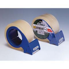 厚手透明梱包用テープ カッター付 J6160(1セット)(発送可能時期:3-7日(通常))[日用品 その他]