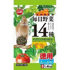 ミニマルランド うさぎの主食 毎日野菜14種 メンテナンス お徳用(1.4kg)(発送可能時期:3-7日(通常))[小動物のフード]