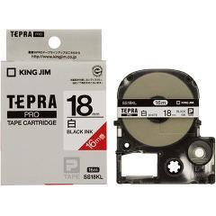 テプラ・プロ テープカートリッジ 白ラベル 18mm 黒文字 ロングタイプ SS18KL(1コ入)(発送可能時期:3-7日(通常))[ラベルライター]