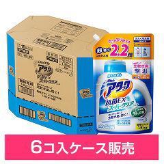 アタック 抗菌EX スーパークリアジェル つめかえ用 超特大サイズ(1.8kg*6コ入)(発送可能時期:3-7日(通常))[つめかえ用洗濯洗剤(液体)]