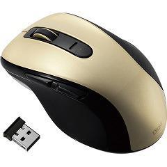 無線静音5ボタンブルーLEDマウス ゴールド MUS-RKF107GL(1コ入)(発送可能時期:1週間-10日(通常))[情報家電 その他]