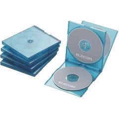 エレコム BLu-ray/DVD/CDケース 標準/PS/4枚収納 CCD-JSCNQ5CBU(5枚入)(発送可能時期:3-7日(通常))[その他]