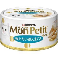 モンプチ ゴールド 缶 極上たい添えまぐろ(70g)(発送可能時期:3-7日(通常))[キャットフード(ウェット)]