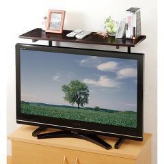 スライド式 薄型テレビ用ラック ブラウン(1台)(発送可能時期:1週間-10日(通常))[収納]