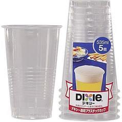 透明プラスチックカップ 535mL(5コ入)(発送可能時期:3-7日(通常))[紙コップ]