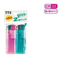 CR お買得電子ライター(2コ入)(発送可能時期:3-7日(通常))[喫煙用品]