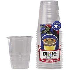 透明プラスチックカップ 270mL(20コ入)(発送可能時期:3-7日(通常))[紙コップ]