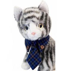 キャットプリン ネクタイシャツ スチュアートちゃん ブルー(1セット)(発送可能時期:1週間-10日(通常))[猫の洋服]