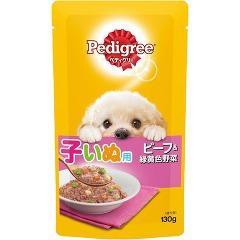 ペディグリー 子犬用 ビーフ&緑黄色野菜(130g)(発送可能時期:3-7日(通常))[ドッグフード(ウェットフード)]