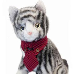 キャットプリン ネクタイシャツ ブリジットちゃん レッド(1セット)(発送可能時期:1週間-10日(通常))[猫の洋服]