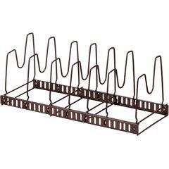 フライパン 収納 ファビエ 伸縮式フライパン&鍋ブタスタンド ブラウン FV30(1コ入)(発送可能時期:1週間-10日(通常))[キッチン収納]