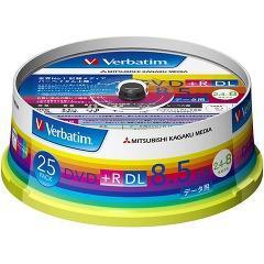 バーベイタム DVD+R DL 8.5GB PCデータ用 8倍速対応 25枚 DTR85HP25V1(1セット)(発送可能時期:3-7日(通常))[DVDメディア]