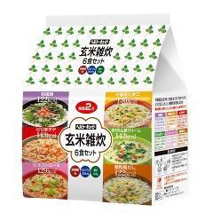 ヘルシーキューピー 玄米雑炊(6食セット)(発送可能時期:1週間-10日(通常))[ダイエット リゾット 粥]