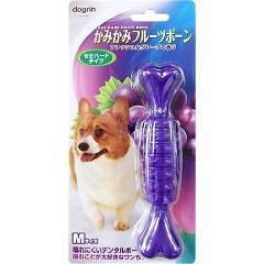 かみかみフルーツボーン グレープ Mサイズ(1本入)(発送可能時期:3-7日(通常))[犬のおもちゃ・しつけ]