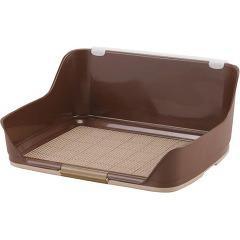 ボンビアルコン しつけるウォールトレー ブラウン Mサイズ(1コ入)(発送可能時期:3-7日(通常))[ペットシーツ・犬のトイレ用品]