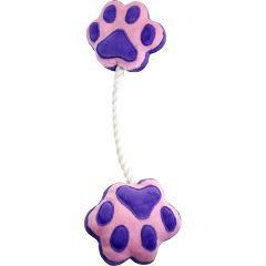 ペットプロ 足型ひっぱりロープ パープル(1コ入)(発送可能時期:3-7日(通常))[犬のおもちゃ・しつけ]