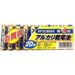 三菱 アルカリ乾電池 単3形 LR6N/20S(20本入)(発送可能時期:3-7日(通常))[電池・充電池・充電器]