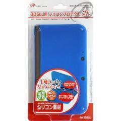 3DS LL用 シリコンプロテクト 3L クリアブルー ANS-3D030BL(1コ入)(発送可能時期:1週間-10日(通常))[家庭用ゲーム機]