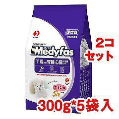 メディファス 11歳から老齢猫用 チキン味(300g*5袋入*2コセット)(発送可能時期:3-7日(通常))[キャットフード(ドライフード)]