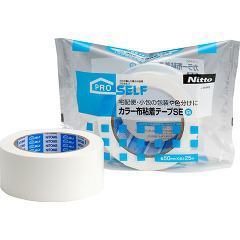 カラー布粘着テープSE 白 J5445(1巻)(発送可能時期:3-7日(通常))[接着剤・補修用品]