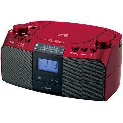 コイズミ CDラジオ レッド SAD-4701/R(1台)(発送可能時期:3-7日(通常))[CDプレーヤー]