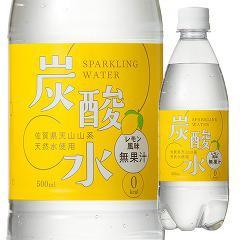 国産 天然水仕込みの炭酸水 レモン(500mL*48本入)(発送可能時期:1-3日(通常))[国内ミネラルウォーター]【送料無料】