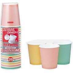 サンナップ ストロングカップ カラーアソート 250mL(20コ入)(発送可能時期:3-7日(通常))[紙コップ]