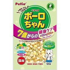 ペティオ ボーロちゃん 7歳からの健康ケア 野菜Mix(120g)(発送可能時期:3-7日(通常))[犬のおやつ・サプリメント]