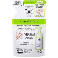 キュレル 皮脂トラブルケア 泡洗顔料 つめかえ用(130mL)(発送可能時期:3-7日(通常))[洗顔フォーム]