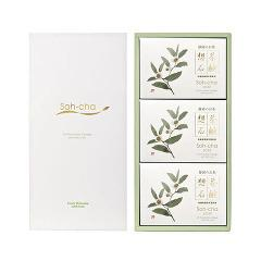 想茶石鹸 3コセット 化粧箱入り(お茶の花)(1セット) (発送可能時期:1週間-10日(通常))[洗顔石鹸]【送料無料】