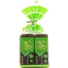 米屋 和楽の里 ミニ羊羹 茶(57g*4本入)(発送可能時期:1週間-10日(通常))[和菓子]