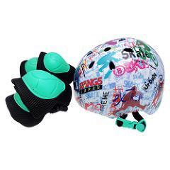 ラングス ジュニアスポーツヘルメット 3点セット ホワイト(1セット)(発送可能時期:1-3日(通常))[ベビー玩具・赤ちゃんおもちゃ その他]