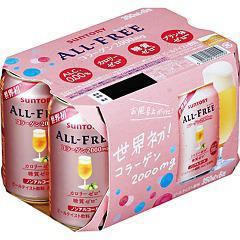 オールフリー コラーゲン(350mL*6本入)(発送可能時期:3-7日(通常))[ノンアルコール飲料]