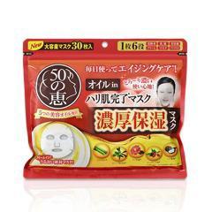 50の恵 オイルinハリ肌完了マスク(30枚入)(発送可能時期:3-7日(通常))[シートマスク]