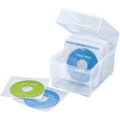 不織布ケース付きDVD・CDケース 100枚収納 FCD-FBOX100N(1コ入)(発送可能時期:3-7日(通常))[情報家電 その他]