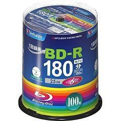 バーベイタム BD-R 録画用 6倍速 VBR130RP100SV4(100枚入)(発送可能時期:3-7日(通常))[ブルーレイメディア]