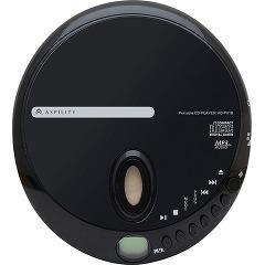 アスピリティ ポータブルCDプレーヤー ブラック AC-P01B(1台)(発送可能時期:1週間-10日(通常))[ポータブルCD]