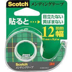 スコッチ メンディングテープ 12mm幅 小巻 CM-12(1巻)(発送可能時期:1週間-10日(通常))[事務用品]