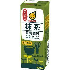 マルサン 豆乳飲料 抹茶(200mL*12本入)(発送可能時期:1週間-10日(通常))[豆乳]