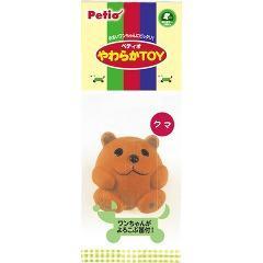 ペティオ やわらかトイ クマ(1コ入)(発送可能時期:3-7日(通常))[犬のおもちゃ・しつけ]