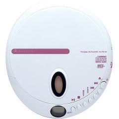 アスピリティ ポータブルCDプレーヤー ホワイト AC-P01W(1台)(発送可能時期:1週間-10日(通常))[ポータブルCD]