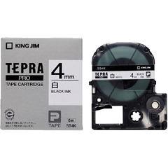 テプラ・プロ テープカートリッジ 白ラベル 4mm 黒文字 SS4K(1コ入)(発送可能時期:3-7日(通常))[ラベルライター]