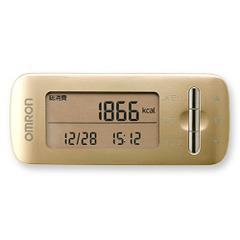 オムロン 活動量計 カロリスキャン ゴールド HJA-306-GD(1台)(発送可能時期:3-7日(通常))[歩数計]