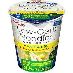 明星 低糖質麺 ローカーボ ヌードル やわらか蒸し鶏のレモンジンジャースープ(1コ入)(発送可能時期:3-7日(通常))[カップ麺]