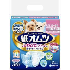 ユニチャーム ペット用紙オムツ SSSサイズ(36枚入)(発送可能時期:3-7日(通常))[ペットシーツ・犬のトイレ用品]