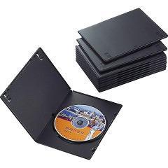 エレコム スリムDVDトールケース CCD-DVDS03BK(10コ入)(発送可能時期:3-7日(通常))[その他]