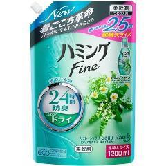 ハミング ファイン リフレッシュグリーンの香り つめかえ用 超特大サイズ(1.2L)(発送可能時期:3-7日(通常))[つめかえ用柔軟剤(液体)]