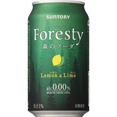 サントリー フォレスティ 森のソーダ レモン&ライム(350mL*24本入)(発送可能時期:3-7日(通常))[ノンアルコール飲料]