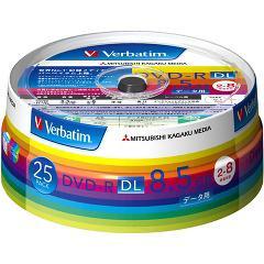 バーベイタム DVD-R DL 8.5GB PCデータ用 8倍速対応 25枚 DHR85HP25V1(1セット)(発送可能時期:3-7日(通常))[DVDメディア]
