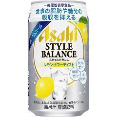【機能性表示食品】アサヒ スタイルバランス レモンサワーテイスト(350mL*24本入)(発送可能時期:3-7日(通常))[ノンアルコール飲料]